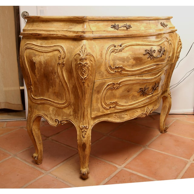 Italian Hand Carved Italian Bombay Chest For Sale - Image 3 of 6