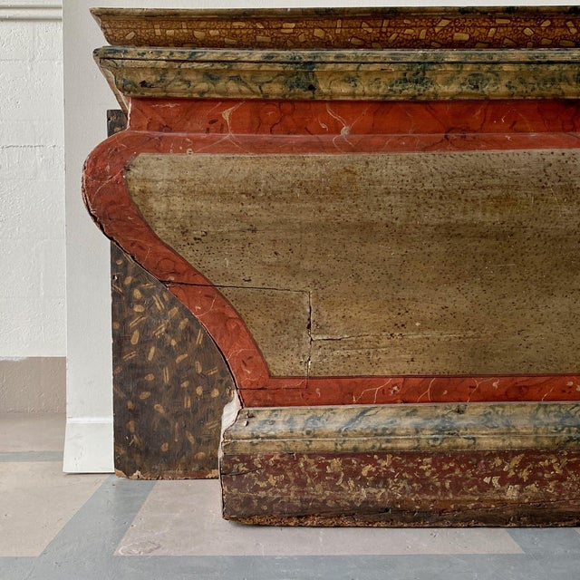 18th Century Antique Italian Faux Marble Specimen Altar For Sale - Image 5 of 6