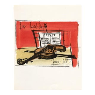 """""""Homage to Dufy"""". Original Lithograph by Bernard Buffet (1965) For Sale"""