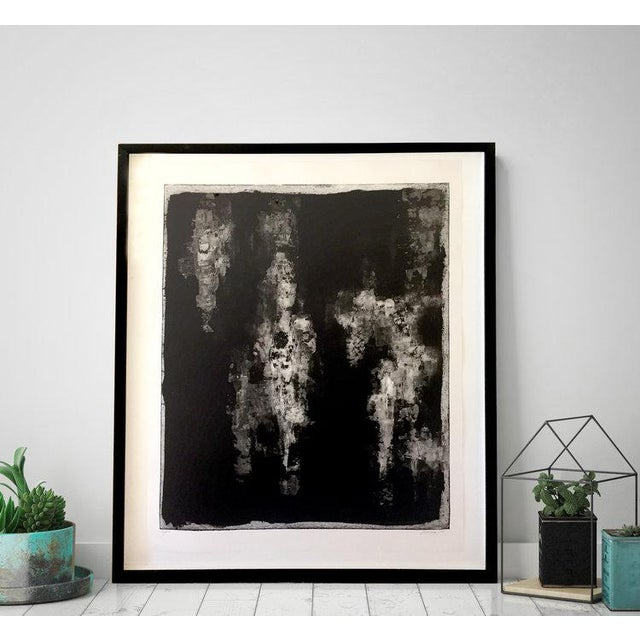 Professionally framed in a contemporary, matte black frame. Signed by artist Dolores Tema Framed Dimensions: 37.25 x 31.25