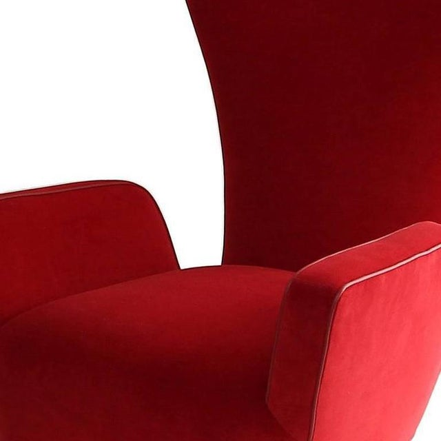 Paolo Buffa Pair of Rare Low-Slung Modern Italian Sculptural Chairs For Sale - Image 4 of 7