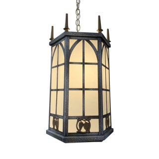 Vintage Antique Style Hanging Lantern Fixture For Sale