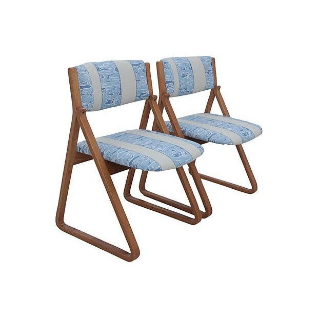 Waterwave Mid-century Dining Chairs - Set of 4 - Image 3 of 6