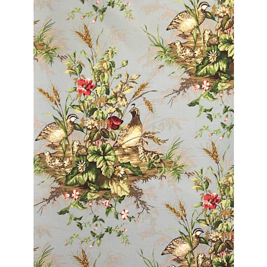 Traditional Sample, Scalamandre Edwin'S Covey Fabric, Multi on London Blue For Sale - Image 3 of 3