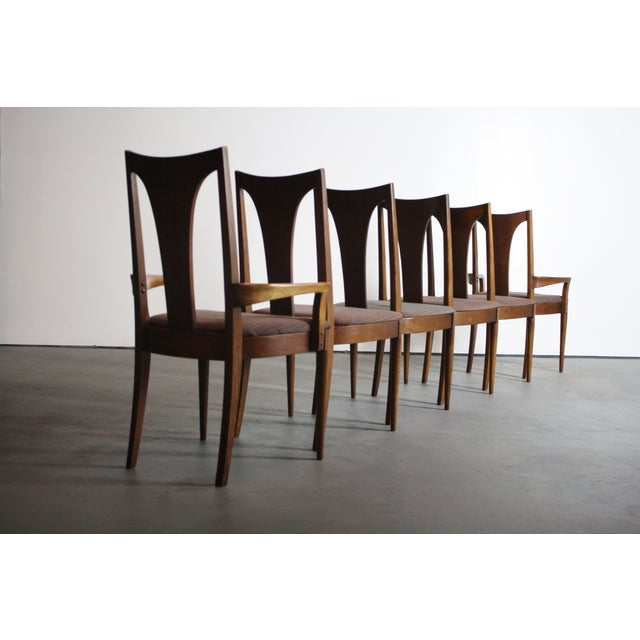 Broyhill Brasilia Walnut Dining Chairs - Set of 6 For Sale In Orlando - Image 6 of 11