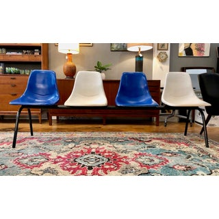 Mid Century Modern Eames Style Shell Chair Airport Bench Seating Preview