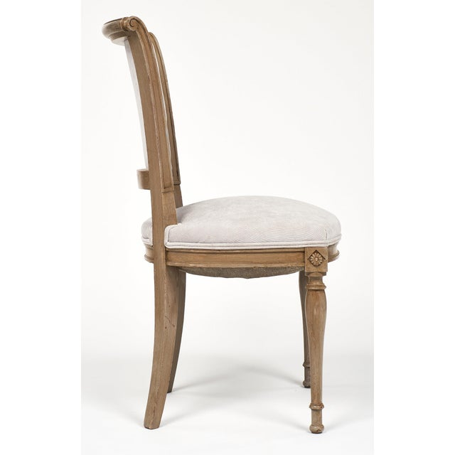 Gray Directoire Style Dining Chairs For Sale - Image 8 of 11
