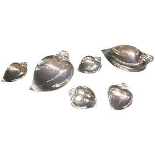 Tiffany & Co., Mid-Century Modern Sterling Silver Candy and Nut Set, Circa 1950s For Sale