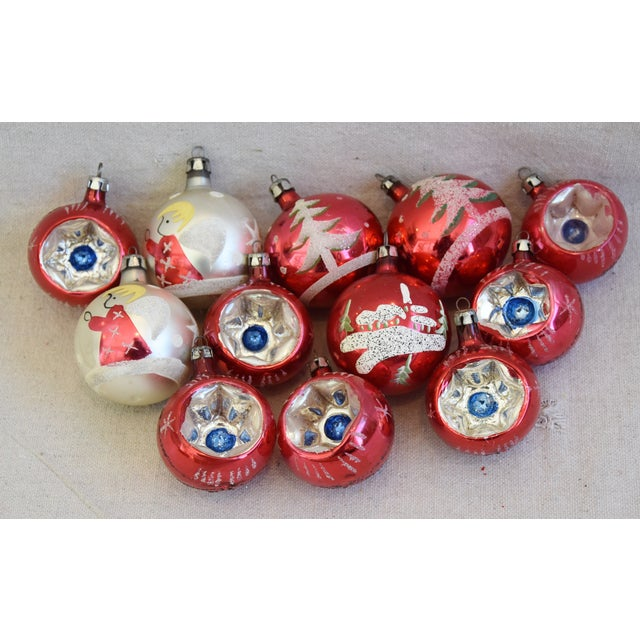 Vintage Colorful Christmas Ornaments W/Box - Set of 12 For Sale - Image 9 of 10