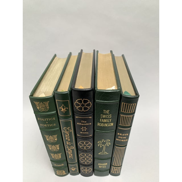 An instant collection of luxe leather-bound books from Easton Press. These high quality vintage books feature leather...