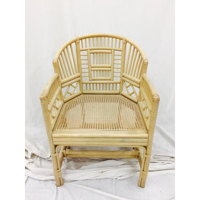 Vintage Brighton Pavilion Style Rattan Arm Chair Chairish