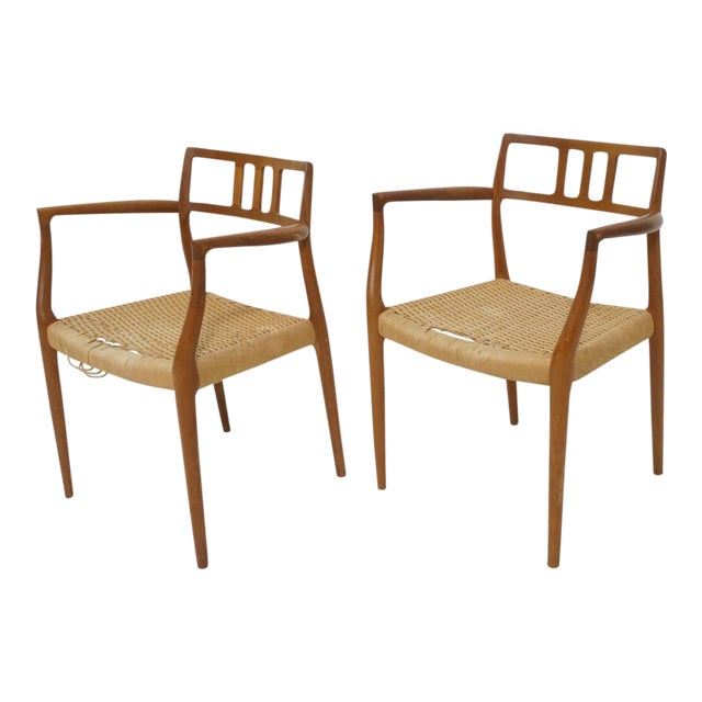 Niels Moller Model 64 Danish Modern Chairs - A Pair For Sale