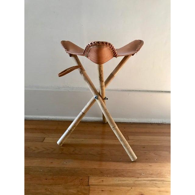 Strange Tripod Leather Camping Stool Ibusinesslaw Wood Chair Design Ideas Ibusinesslaworg