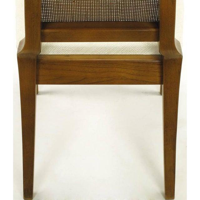 Sleek, circa 1950s Modern Walnut and Cane Dining Chairs - Image 10 of 10