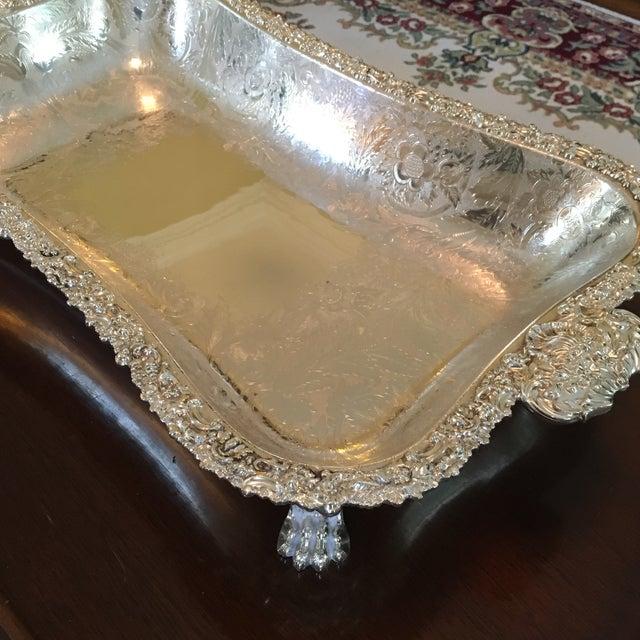 Barker Ellis Hand Applied Silver Tray For Sale In Cincinnati - Image 6 of 13