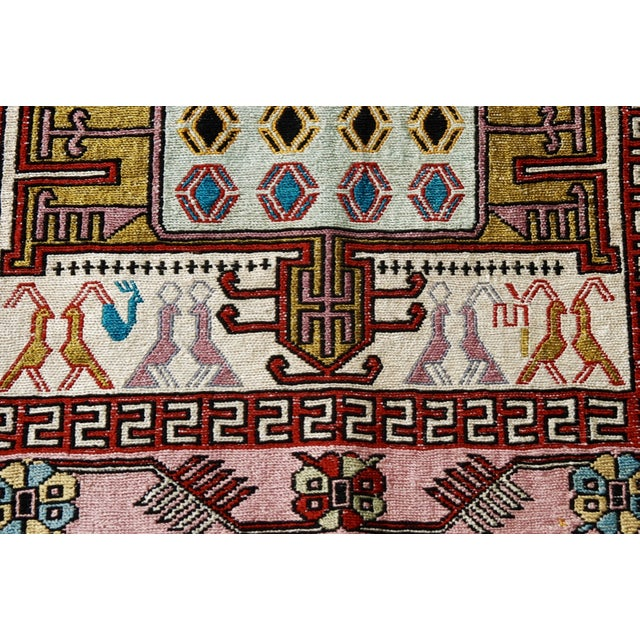 Silk & Wool Handmade Kilim Rug - 2'6'' X 3'4'' - Image 3 of 5