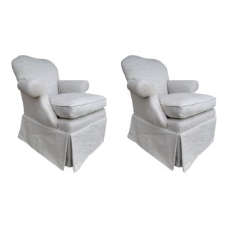 Upholstered Armchairs by J. Robert Scott - a Pair For Sale