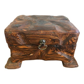 Vintage Hand Made Oak Jewelry Box
