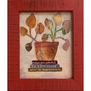"""""""Tv Detectives"""" Original Framed Painting For Sale"""