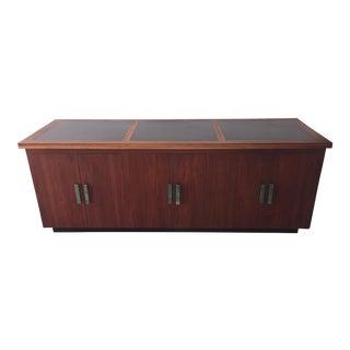 1960's Mid-Century Custom Walnut Buffet Cabinet