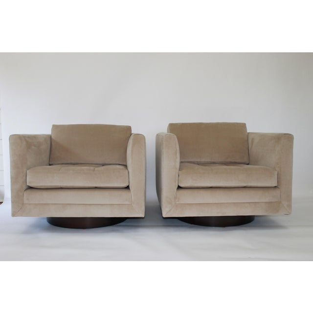 Harvey Probber Swivel Cube Chairs - a Pair For Sale - Image 12 of 12
