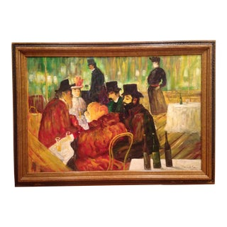 Early 20th Century R. Wilcox French School Original Oil on Canvas Painting For Sale
