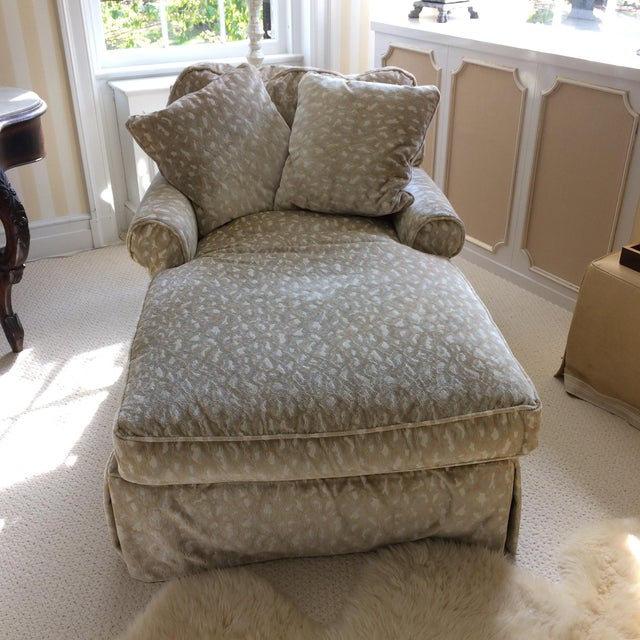 Vintage Down Filled Chaise Lounge Chairish