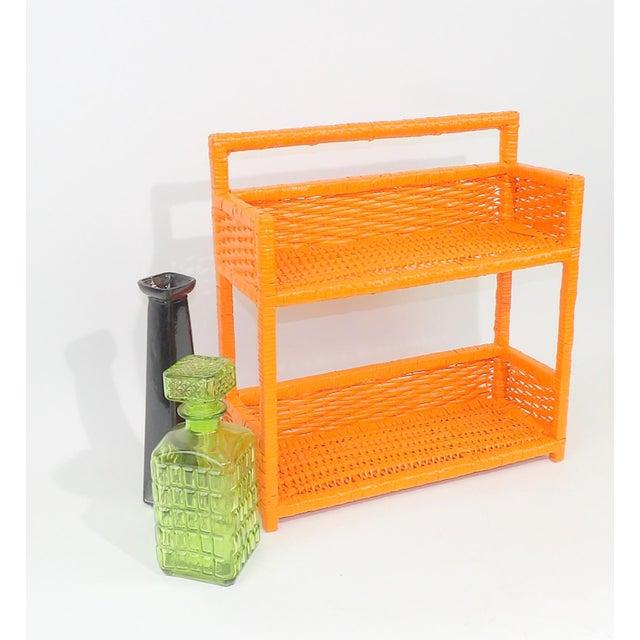 Orange Wicker Wall Shelf - Image 8 of 11