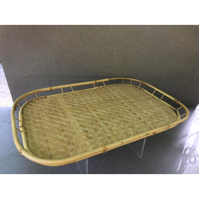 Vintage Boho Bamboo Serving Trays - Set of 6 - Image 4 of 4