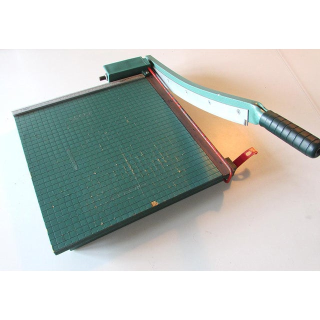 Vintage Guillotine Paper Cutter For Sale - Image 4 of 4