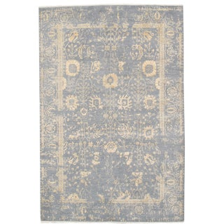 """Modern Wool and Silk Rug- 6'1""""x9'2"""" For Sale"""