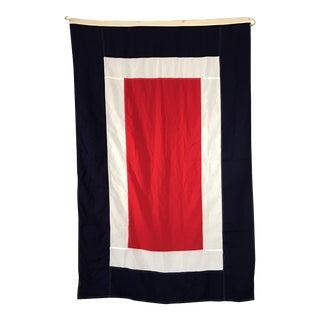 "Vintage Nautical Flag Signal ""W"""