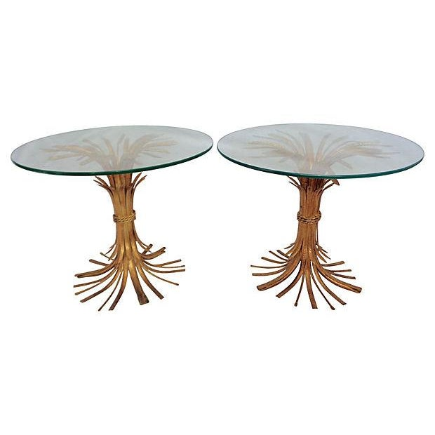 Italian Wheat Sheaf Side Tables - A Pair - Image 1 of 5