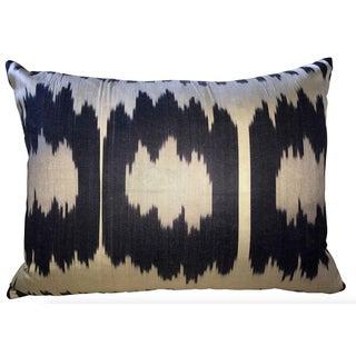 Triple Ikat Silk Atlas Pillow