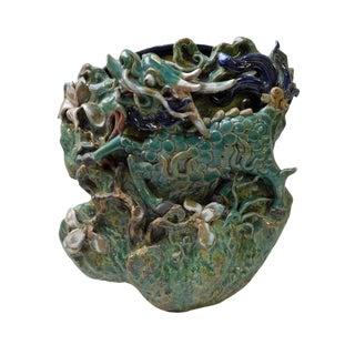 Handmade Green Kirin Shape Wall Hanging Vase For Sale