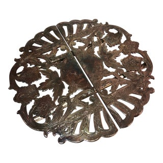 1920s Antique Silver Plated Articulating Trivet For Sale