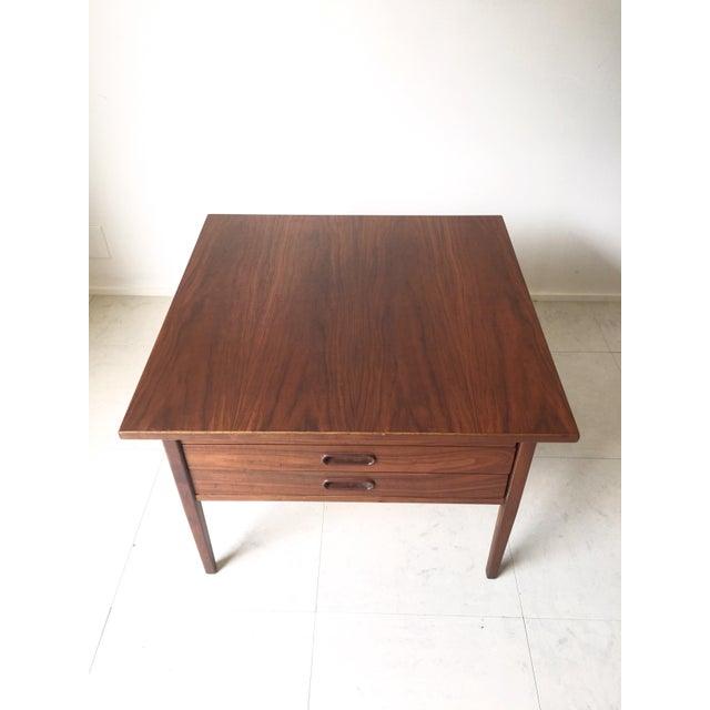 Jens Risom Style Walnut Three Drawer Table - Image 5 of 7