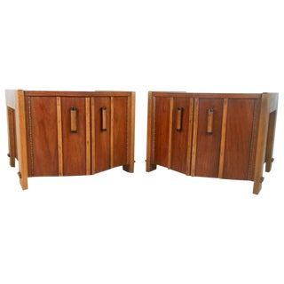 Pair of Mid-Century American Walnut End Tables For Sale
