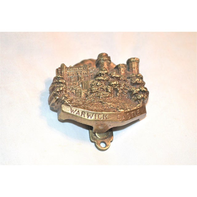 Gothic Medieval English Edifice Warwick Castle 1920s Door Knocker For Sale - Image 3 of 11