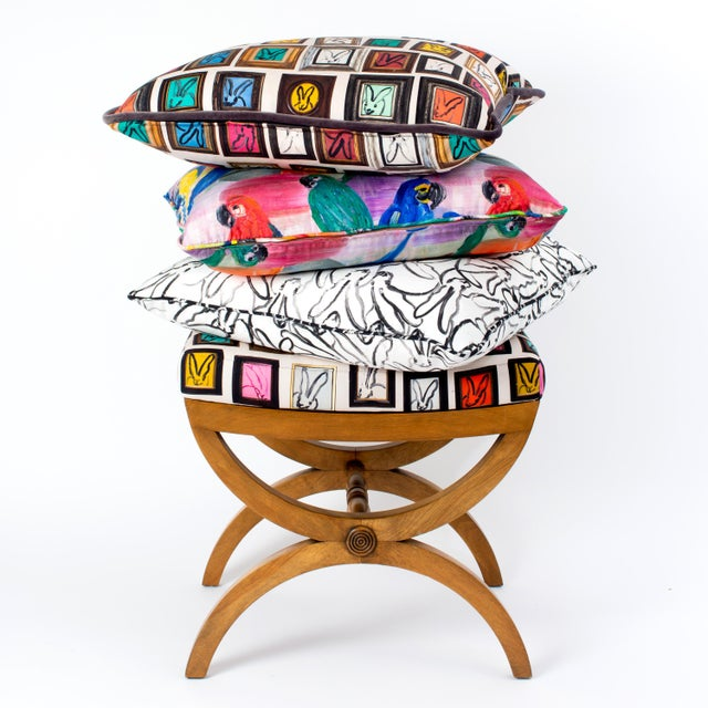 Contemporary Hunt Slonem Hunt's Studio Cotton Pillow Cover For Sale - Image 3 of 4