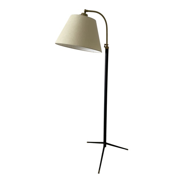 1950s Jacques Adnet-Style Floor Lamp For Sale