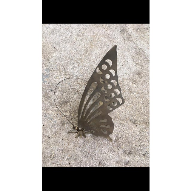 Vintage Brass Butterfly Wall Decor - Image 5 of 6