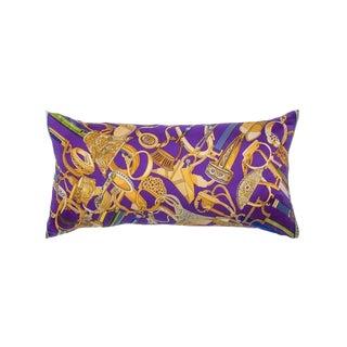 """""""Concours D'etriers"""" Hermès Silk Scarf Pillow For Sale"""