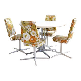 Vintage Chrome Craft / Virtue Bros. Of California Dining Set - 5 Pieces For Sale