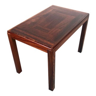 Mid Century Danish Modern Rosewood Side Table by Vejle Stole For Sale