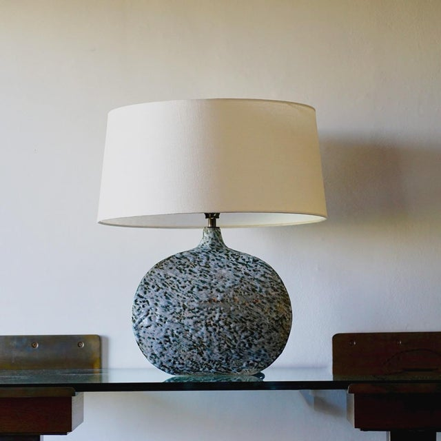 Clay Belly Pot Table Lamp For Sale - Image 7 of 8