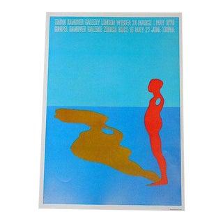 Vintage Signed Lithograph Poster-Ernest Trova For Sale