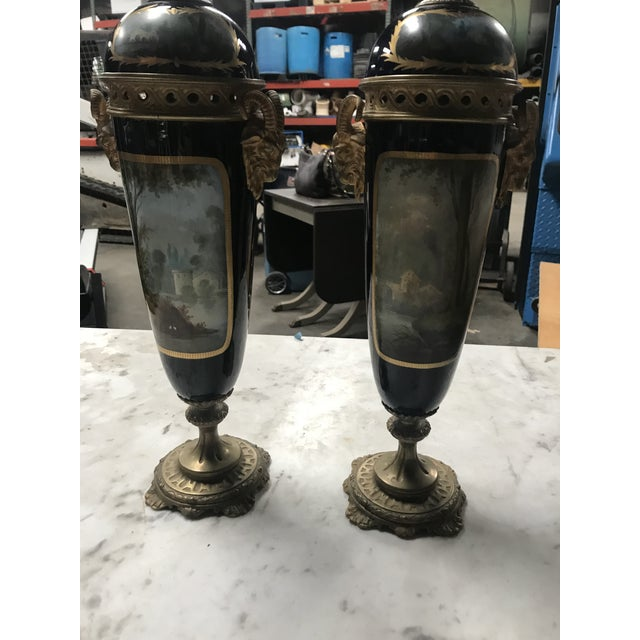 1860s Antique Decorative Sevres - a Pair For Sale In New Orleans - Image 6 of 10