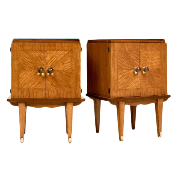French Mid-Century Modern Side Tables - a pair For Sale