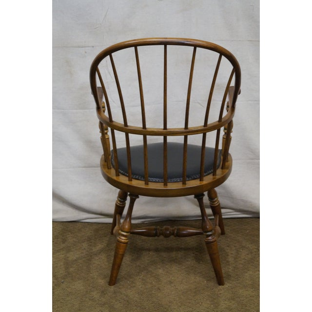 Frederick Duckloe Vintage Loop Back Arm Chair For Sale - Image 4 of 9